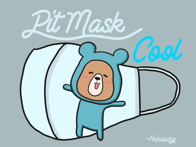 Pit Mask Cook(ピットマスククール)洗えるひんやり冷たくて気持ちいいマスク。