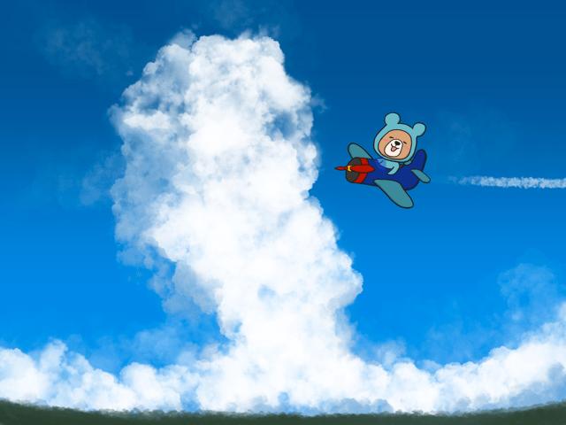 Procreateの雲ブラシの使い方【入道雲を描く】